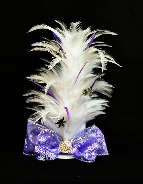 Purple Winter Mini Top Hat