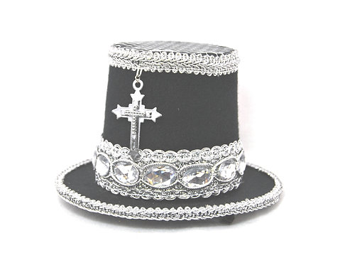 Mini Top Hat with Cross and Stones