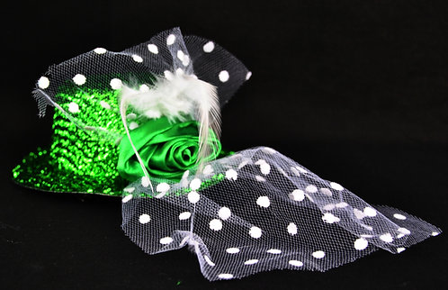 St. Pats Glitzy Bowler with veil