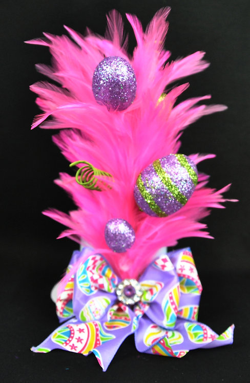 Egg-splash Mini Top Hat - Pink
