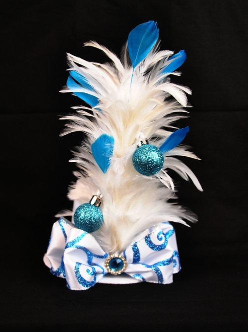 Blue Swirl  Mini Top Hat
