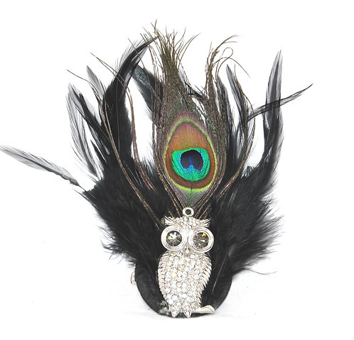 Sparkly Owl Hairclip / Brooch