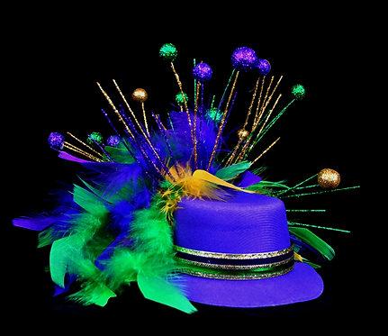 Glittery Bowler - Purple