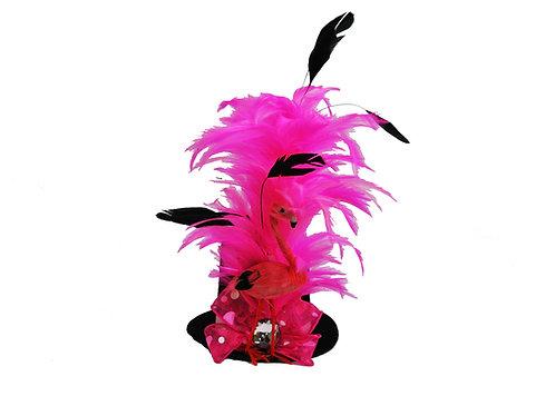 Pink Flamingo Mini Top Hat