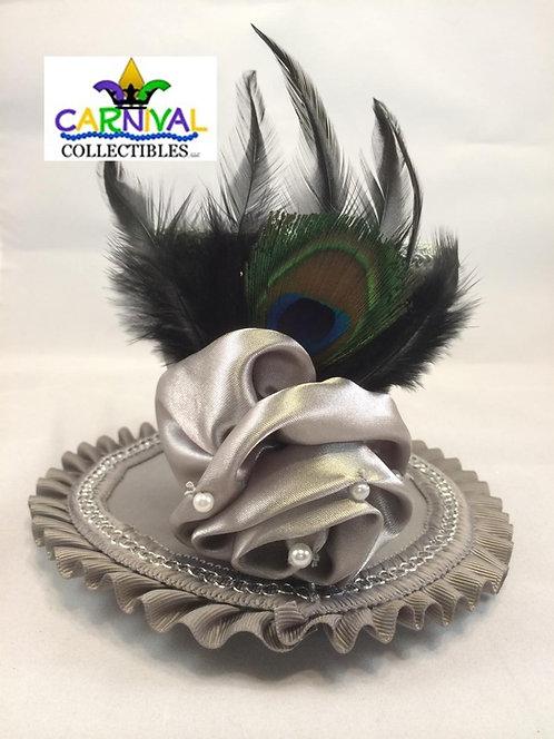 Silver Trim Mini Hat