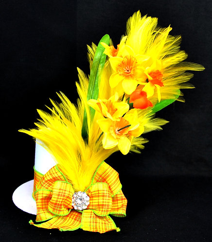 Easter Yellow Daffodil Top Hat