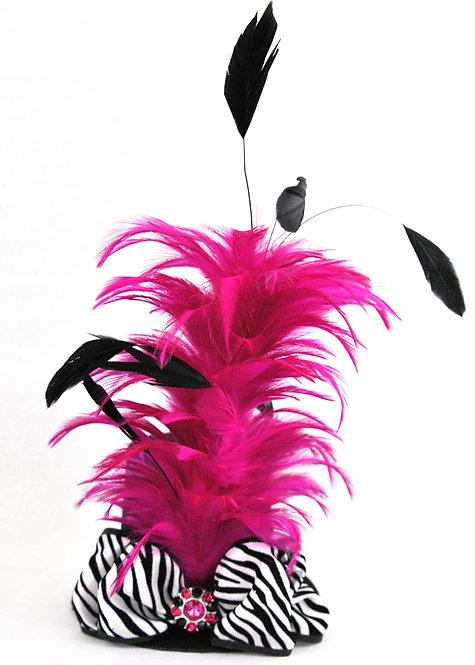 Hot Pink Zebra Mini Top Hat
