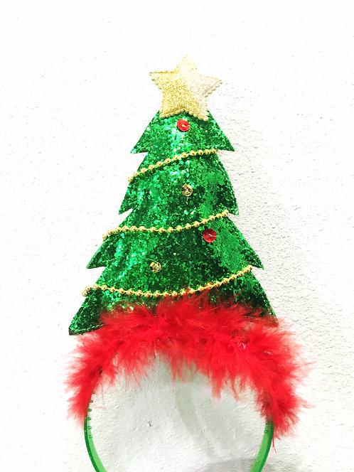 Sequin Christmas Tree Headband