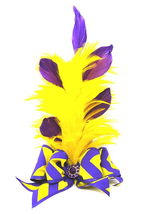 LSU Mini Top Hat - Yellow Feathers