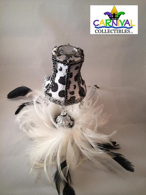 Black and White Lamp Fascinator