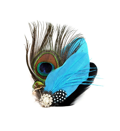 Peacock and Goose Hairclip