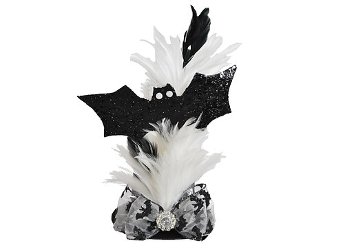 Black and White Bats Mini Top hat