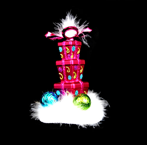 Whimsical Gift Tower Flat Base Fascinator