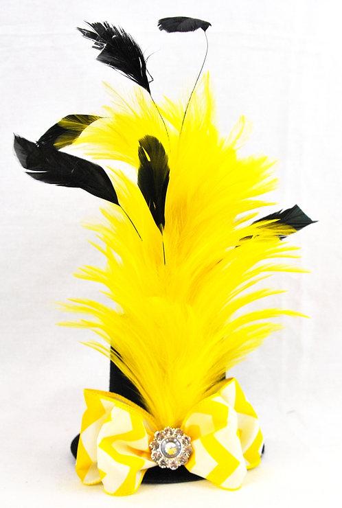 Bummble Feather Stick Mini Top Hat
