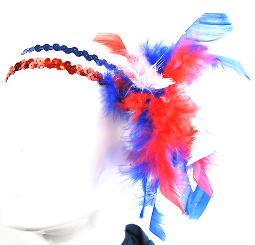 Red White and Blue Sequin Headband