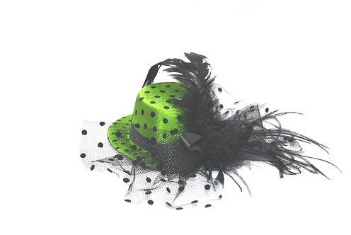 """Green Polka Dot 5"""" Mini Hat"""