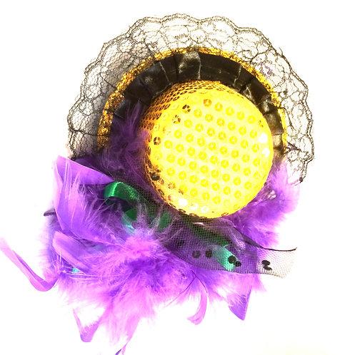 Mardi Gras Sequin Mini Hat