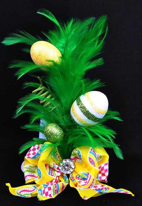 Egg-splash Mini Top Hat - Green
