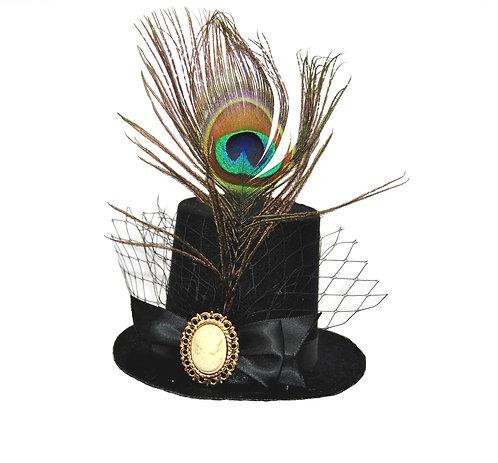 Cameo Peacock Mini Top Hat