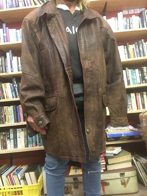 Roco Baroco Brown Leather Jacket / coat 2XL
