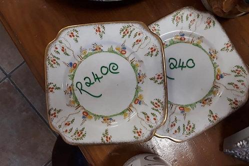 Vintage Crockery - Bell China England - 2 Plates