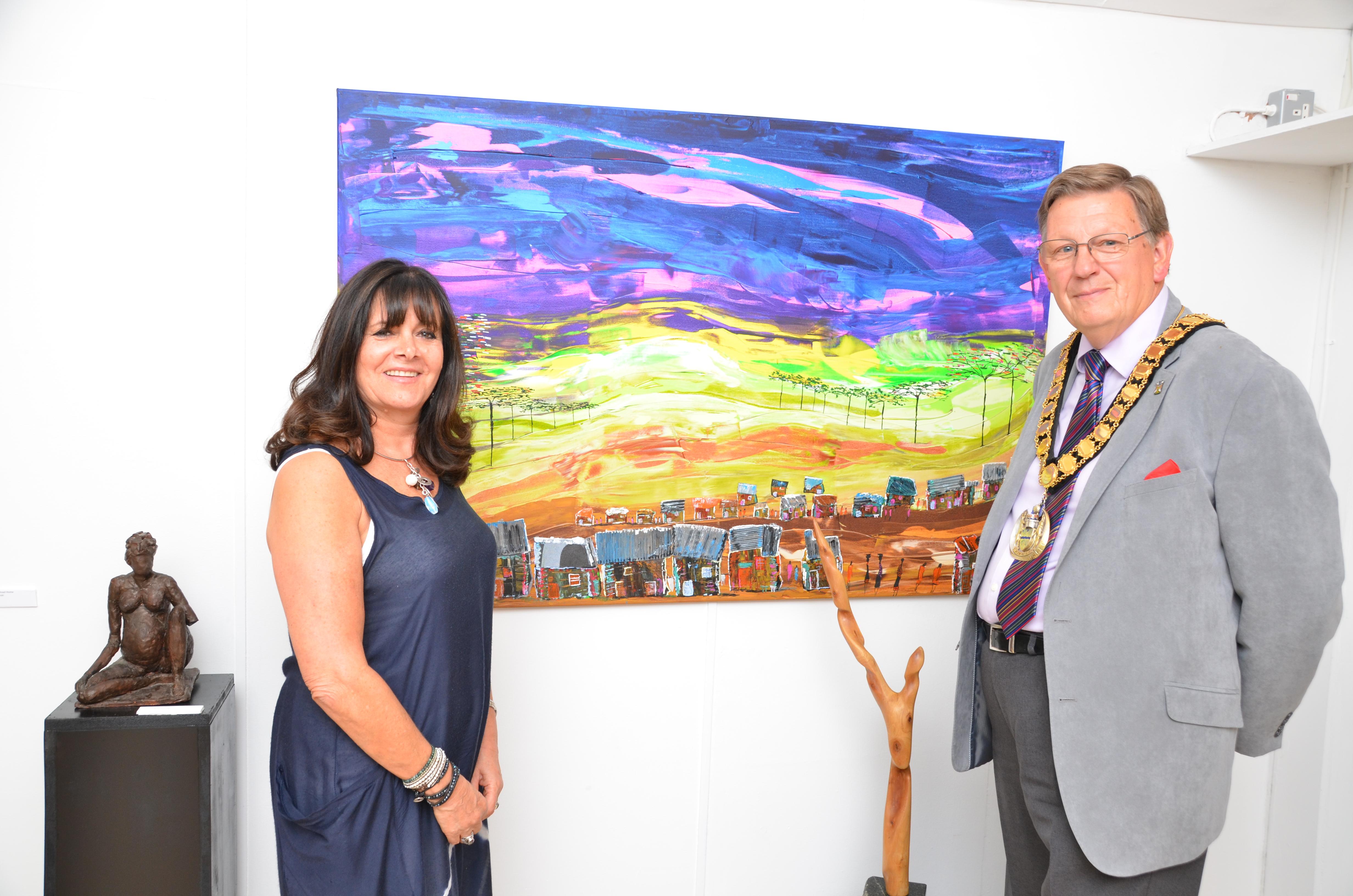Linda Lipinski & Mayor Les Page