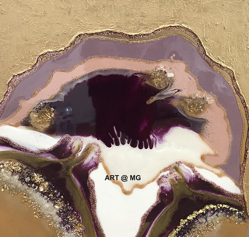 Geode Valley resin on canvas by Jillian Andrews