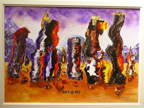 Crystalline Pillars by Tony Clark.
