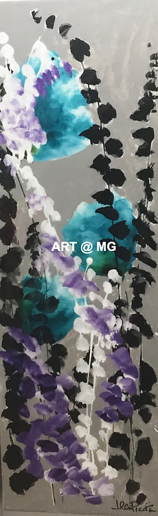 Floral Abstracts - pair by Jean Picton
