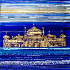 Royal Pavilion Brighton in Blue and Gold