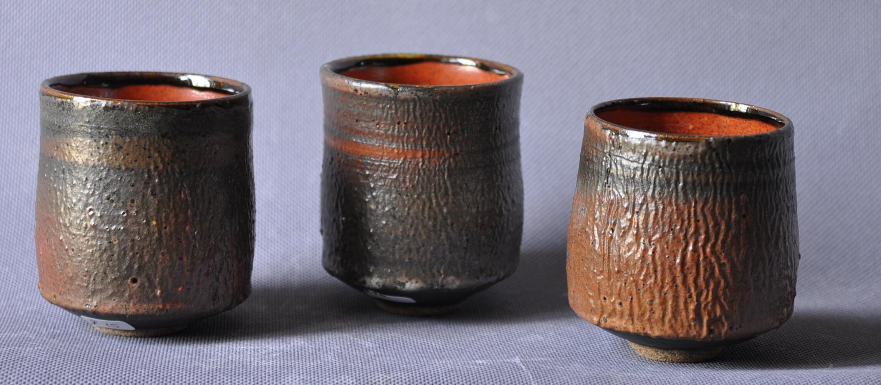brown beakers.