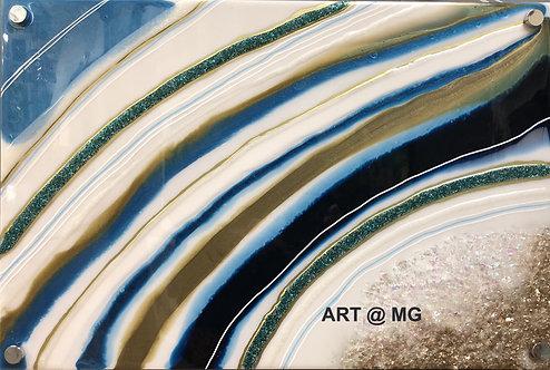 Resin Geode on Aluminium