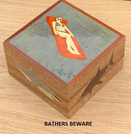 Bathers beware Box by BEZEE