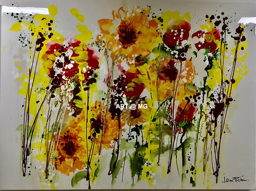 Jean Picton Floral Abstract Painting