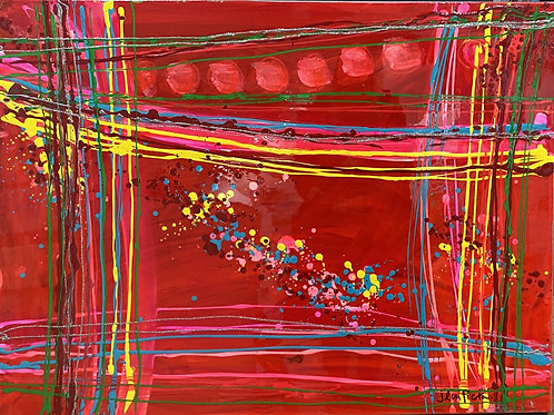 Red Abstract (1) by Jean Picton
