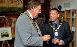 Mayor Les Page and Cllr Phil Corke
