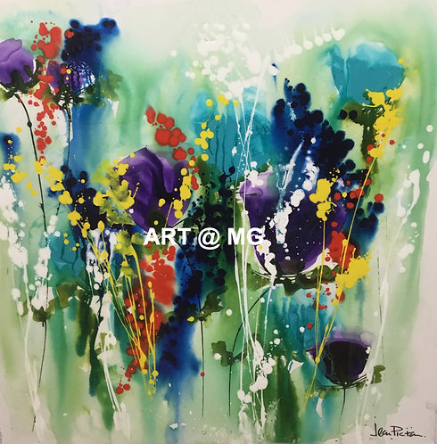 Floral Abstract by Jean Picton