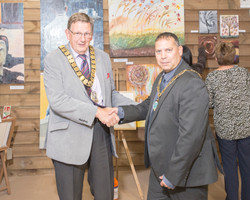 Mayor Page and Cllr Corke