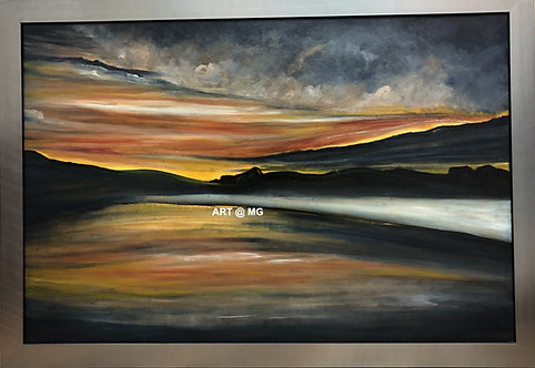 Sunset over lake 1 by Brian McAleer