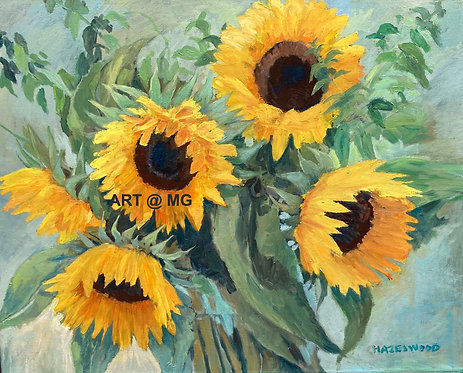 Sunflowers by Pauline Hazelwood