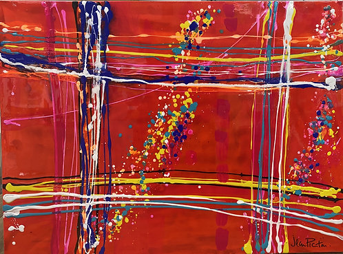 Red Abstract (2) by Jean Picton