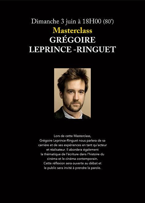 Masterclass Grégoire Leprince-Ringuet