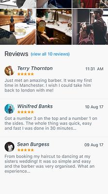 Service Page Digi Barber Booking app DIGIBARBER