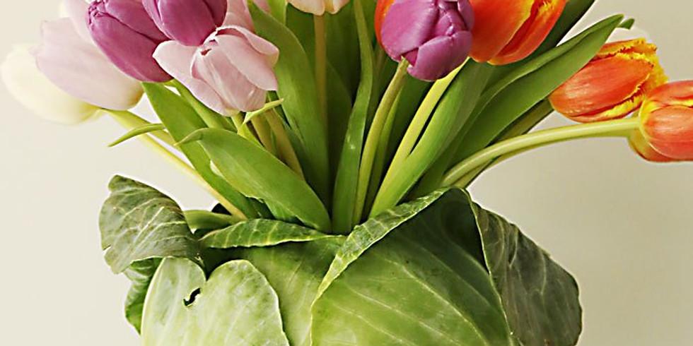 Tulip Cabbage Floral Arrangment