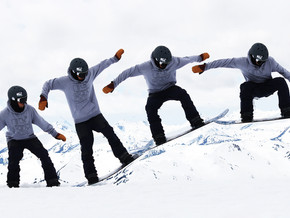 How to Ollie On a Snowboard : 6 Steps