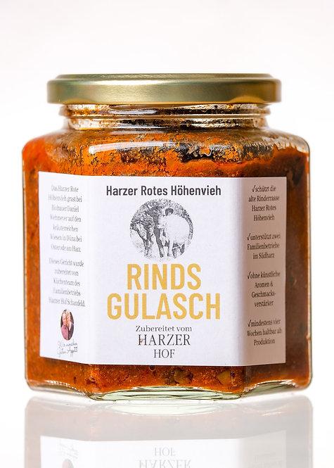 Rindsgulasch vom Harzer Roten Höhenvieh