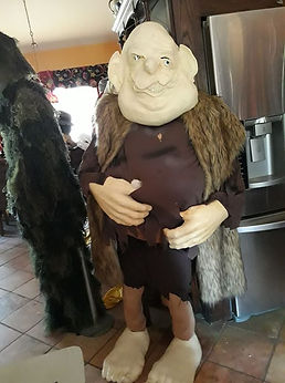 Working on Troll costume for this year's