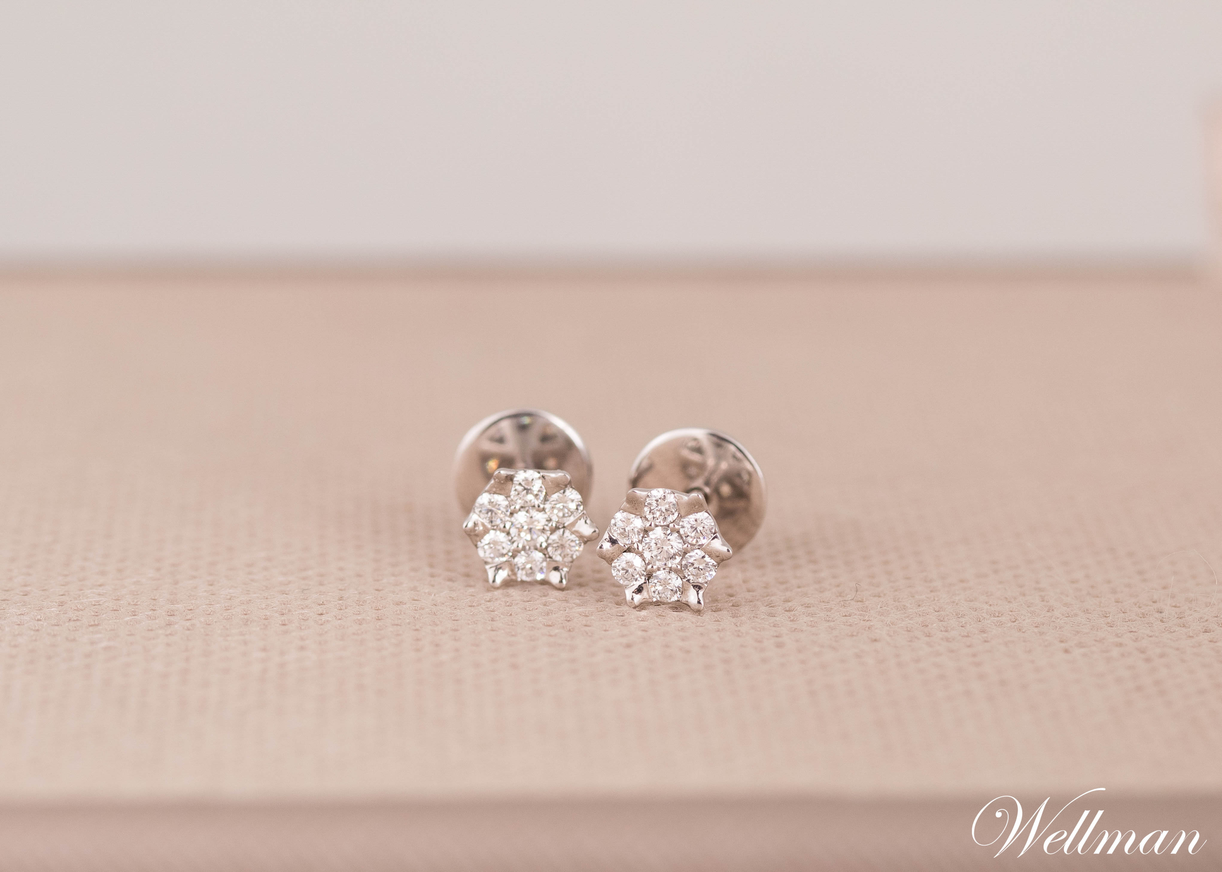 diamond earring wellman jewelry
