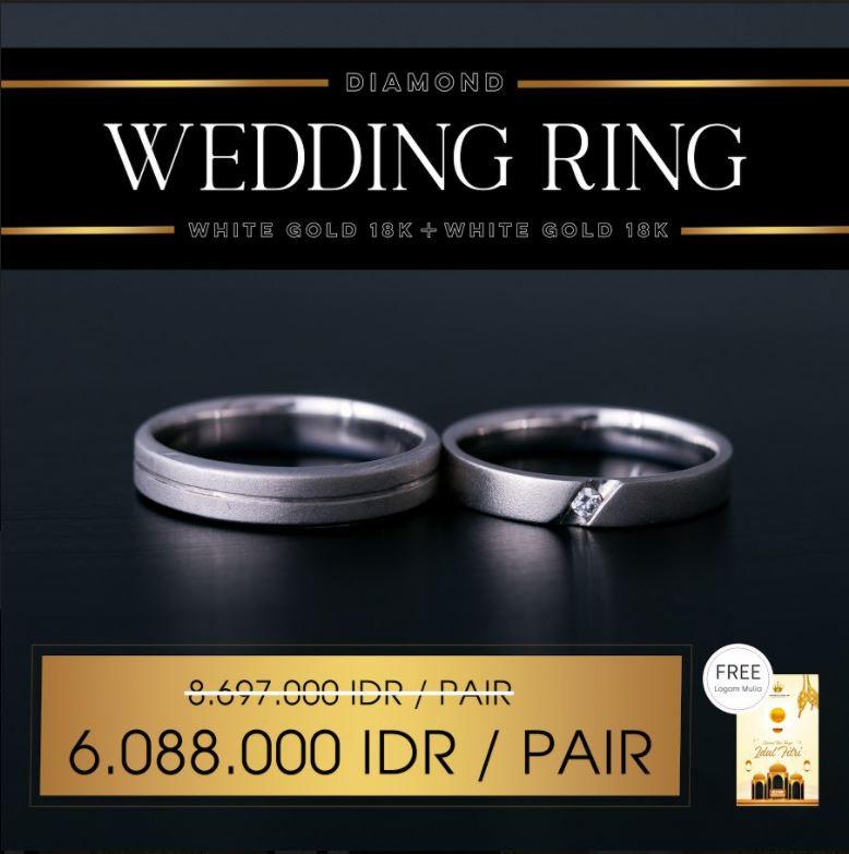 PROMO WEDDING RING FREE LOGAM MULIA