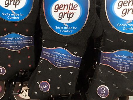 Gentle Grip Honey Comb Socks